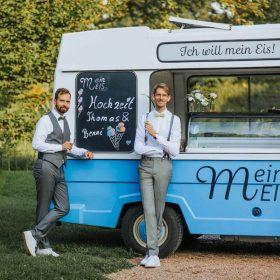 Sommerhochzeit Mein Eis Catering Eiswagen Mein Eis Oldtimer Mobil Speiseeis Köln Bonn Düsseldorf