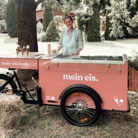 Eisbike Eisfahrrad für Betriebsfest Catering